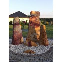 FONTANNA OGRODOWA z kamienia naturalnego [Kompozycja 3 kamieni]