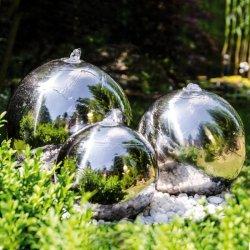 Fontanna ogrodowa 3 KULE ze stali nierdzewnej