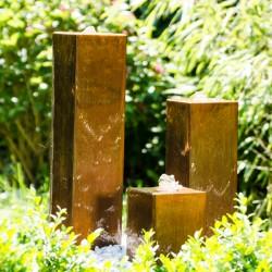 Fontanna ogrodowa i tarasowa ze stali CORTEN