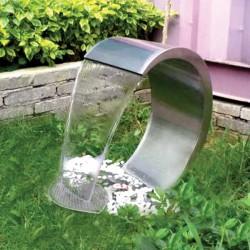 Fontanna ogrodowa ze stali nierdzewnej DELFIN