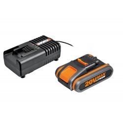 Worx - Akumulator z ładowarką 2 A, 4 Ah,  WA3604